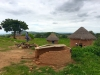 Typical huts in Zimbabwean villages