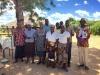Melania Nyamakuwa with HIV outreach volunteers
